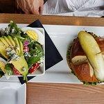 Burger with cobb salad