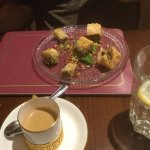 Baklava and Coffee to finish