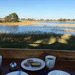 Breakfast with a view on the delta