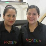 Our server and her friend-beautiful ladies!