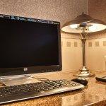 Business center computer.