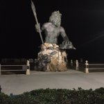 On the boardwalk at, I believe 32nd Street, is King Neptune.