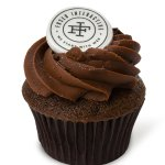 Fondant logo cupcakes send a delicious message about your brand.