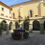 The courtyard in the centre of the former Franciscan monastery