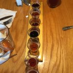 We started with a flight of 8 beers and made our decisions from there