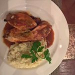 Stuffed chicken with risotto