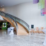 The beautiful staircase at Levine Museum of the New South, great for grand entrances!
