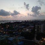 Twilight captured above Bandra worli sea link