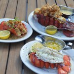 Fried Lobster, Sauteed Garlic Lobster and Broiled Lobster