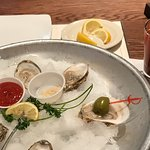 East coast oysters salty yum!