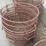 rusty oyster baskets at Hog Island Oyster Co, Pt Reyes, CA