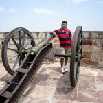 With one of the canons that is still intact and well preserved