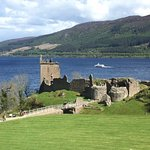 the castle with Loch Ness