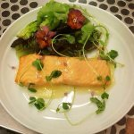 Salmon and spring mix