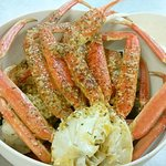 Snow Crab Combo with garlic butter seasoning and mild spice level