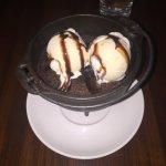 Calling all chocolate lovers...large enough for two, chocolate brownie with ice cream