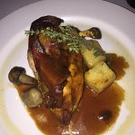 chicken brest with bacon, mushrooms, potatoes and a great sauce