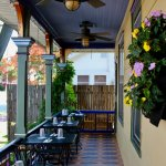 Enjoy dinning on our front porch.
