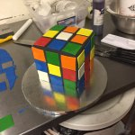 Rubic's Cube themed birthday cake