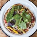 ¡VEGGIE TACOS Y MÁS! ---->Pizzeta con pan pita