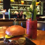 Signature Bloody Mary and Beef Burger