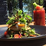 Signature Bloody Mary and Burger as a salad a popular option