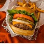 Our famous 1/2 pound Burger