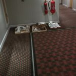 trays in corridor- over 24 hours, there were loads - we told reception and still nothing was don