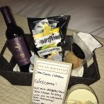 Our welcome basket from the wonderful staff at Inn on Randolph. What a pleasant surprise!