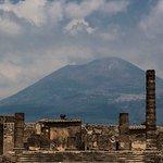 Pompeii with Mt Vesuvius in Background