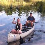 Jessica and Hunter canoeing