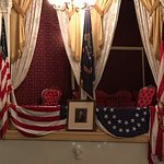 Seat where Lincoln was shot in Ford's theater