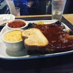 Beef BBQ ribs at Jack Stack was awesome. The cheesy corn and BBQ bean sides tickled my palette.