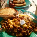 Chorizo hash and French Toast - YUM!!!