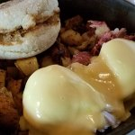 Eggs Benedict with homemade Hash