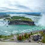 Great view atop the Skylon Tower of the American and Canadian falls