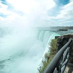 Street level view of the Canadian horseshoe falls