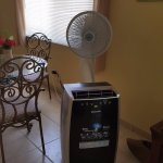 portable ac unit that was not big enough to cool down the place