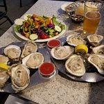 Big Oysters and Salad
