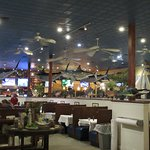 View of the seating area of Big Fish Grill