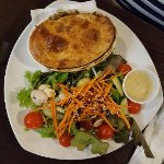 Chicken Pot Pie with Fresh Salad - nothing fried!