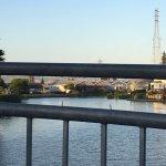Petaluma river view from downtown promenade
