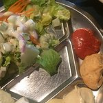 Salad and dipping sauces