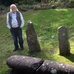 Denis Ryan explaining the Olham alphabet.