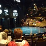 The thrust stage of the Festival Theatre prior to a performance