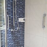 Shower with safety handles
