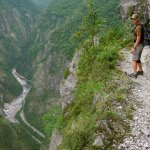My guide Peter in Zhuilu Old Trail at Taroko Gorge