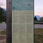 Safety information regarding the Soca River, which is behind the hotel