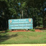 Here's a welcome sign into Fort Raleigh