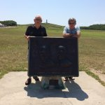 Ken (left) and David. Grandma's cousins, the Wright Brothers, first flew a controlled plane righ